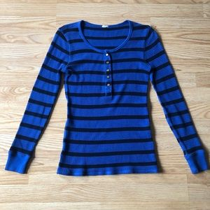 J. Crew | Vintage thermal Henley top Size Small